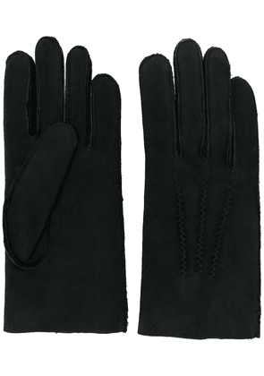 A.P.C. shearling gloves - Black