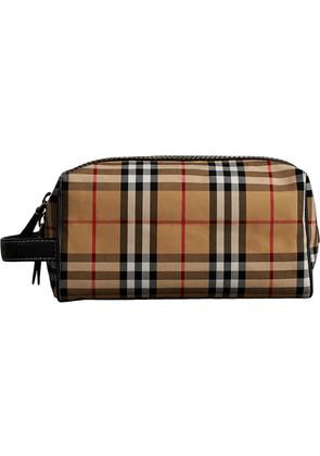 Burberry Vintage Check and Leather Pouch - Brown