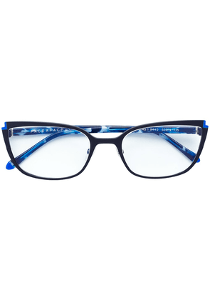 Face À Face cat eye frame glasses - Blue