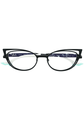 Face À Face double cat-eye glasses - Black
