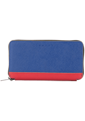 Marni long two-tone wallet - Blue