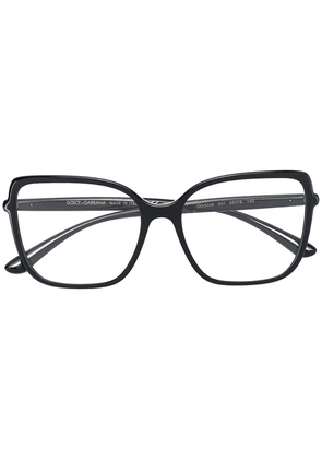 Dolce & Gabbana Eyewear oversized square glasses - Black