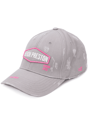Heron Preston logo embroidered baseball cap - Grey
