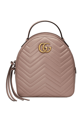 Gucci GG Marmont quilted leather backpack - Pink