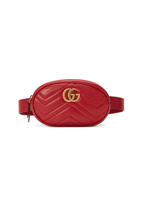 Gucci GG Marmont matelassé belt bag - Red