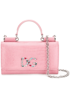 Dolce & Gabbana mini Von wallet crossbody bag - Pink