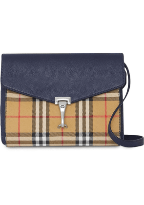 819daf0dce1e Burberry Small Vintage Check and Leather Crossbody Bag - Blue