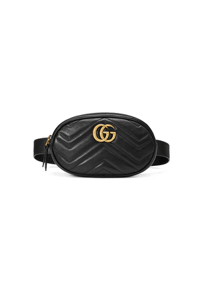 Gucci GG Marmont matelassé belt bag - Black