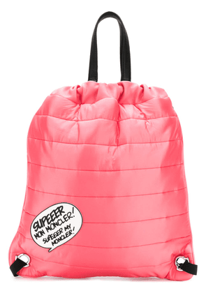 Moncler quilted drawstring backpack - Pink