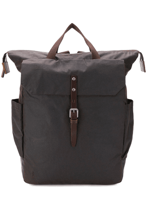 Ally Capellino Fin waxed rucksack - Brown