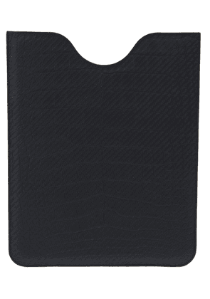Jean Rousseau aligator leather ipad sleeve - Black