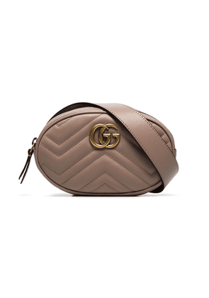 Gucci Marmont Quilted Belt Bag - Neutrals