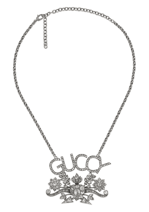 Gucci Guccy crystal pendant necklace - Metallic