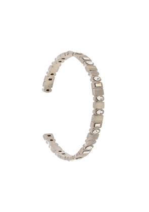 Charlotte Valkeniers Binary bangle bracelet - Metallic
