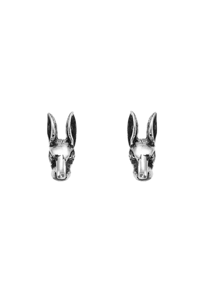 Gucci Anger Forest rabbit head earrings in silver - Metallic