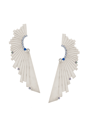 Charlotte Valkeniers large Galactic earrings - Metallic