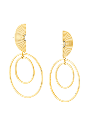 Charlotte Valkeniers Spectrum hoop earrings - Metallic
