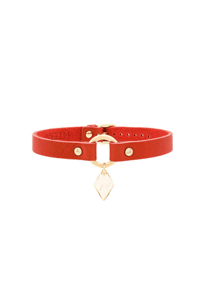 Absidem gem embellished choker necklace - Red