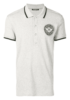 Balmain Polo with Balmain medallion - Grey