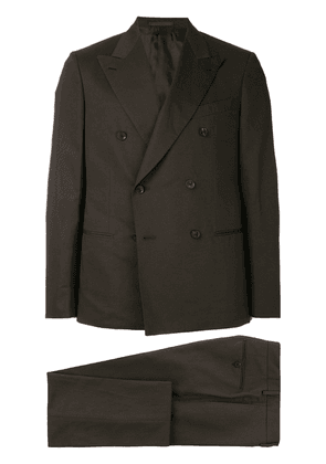 Caruso double breasted two piece suit - Brown