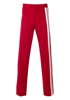 Valentino side stripe track pants - Red