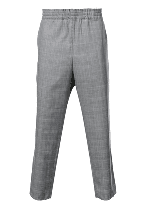 Camiel Fortgens check print cropped trousers - Grey