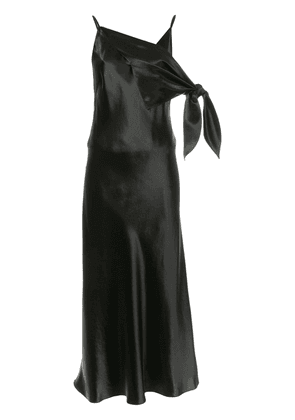Christopher Esber long V-neck dress - Black