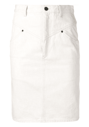 Isabel Marant pencil denim skirt - Neutrals