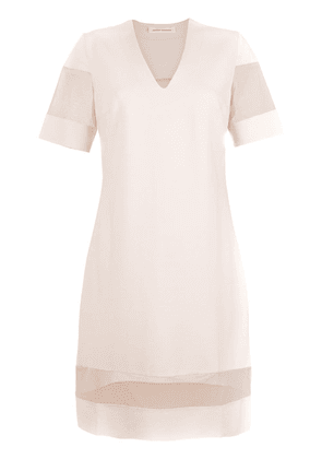 Gloria Coelho sheer panels dress - Neutrals