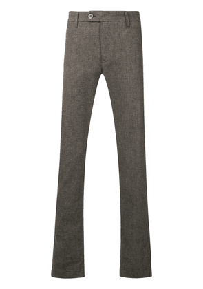 Al Duca D'Aosta 1902 melange knit style trousers - Brown