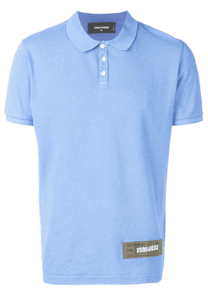 Dsquared2 logo patch polo shirt - Blue