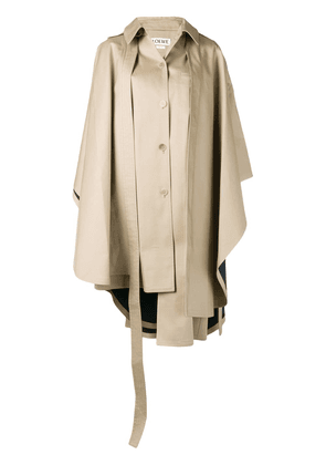 Loewe cape style trench coat - Neutrals