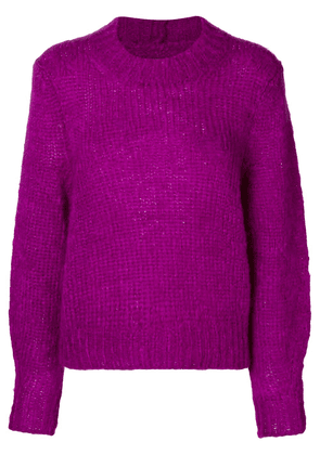 Isabel Marant cropped chunky-knit sweater - Pink