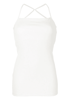 Christopher Esber cross back fitted vest top - White