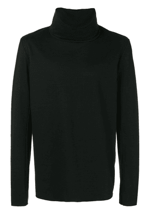 Attachment funnel neck sweatshirt - Black