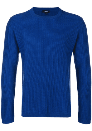 Theory ribbed crew neck sweater - Blue