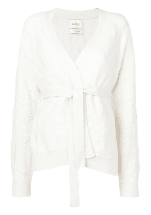 Barrie wrap cardigan - White