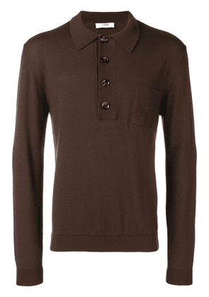 Cmmn Swdn knitted polo - Brown
