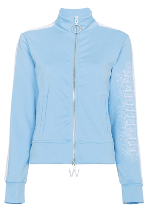 Off-White Blue Zip Front Sports Jacket
