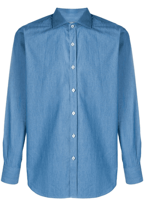 Canali slim-fit denim shirt - Blue
