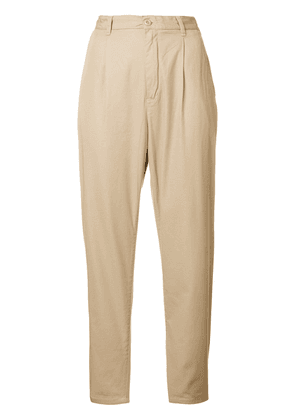 Carhartt high-waisted cropped trousers - Neutrals