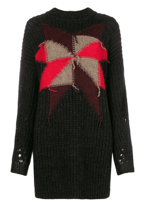 Isabel Marant star detail knitted sweater - Black