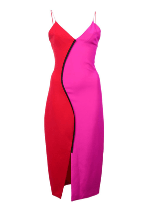 Christian Siriano two-tone fitted dress - Pink