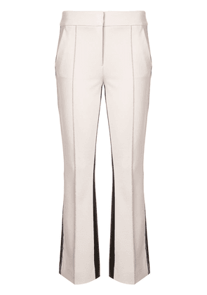Dorothee Schumacher contrasting bootcut trousers - White