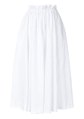 Loewe high-waisted full skirt - White