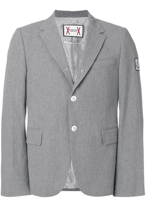 Moncler slim-fit button blazer - Grey