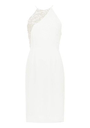 Gloria Coelho embroidered detail dress - White