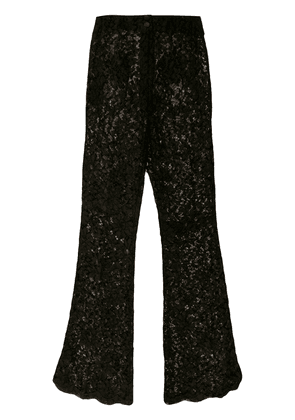 Dolce & Gabbana flared lace trousers - Black