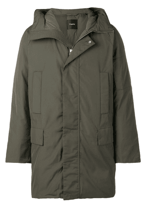 Theory hooded padded coat - Green