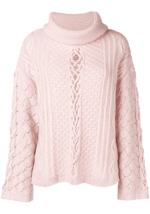 Circus Hotel detailed knit jumper - Pink